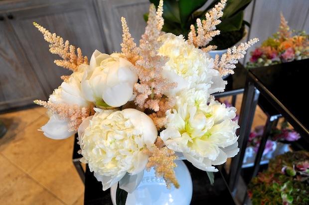 7. peony bouquet white