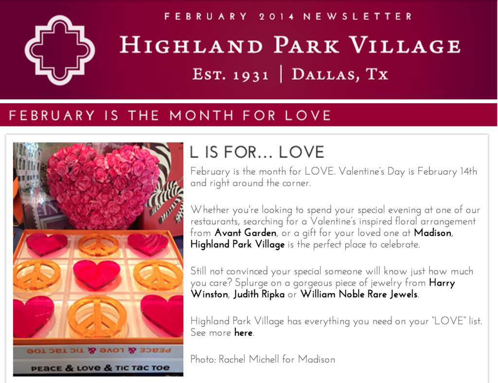 highland park village newsletter