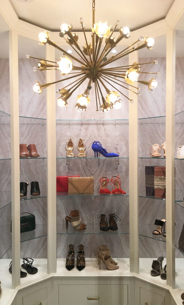 Shoe and accessory nook inside MARKET.