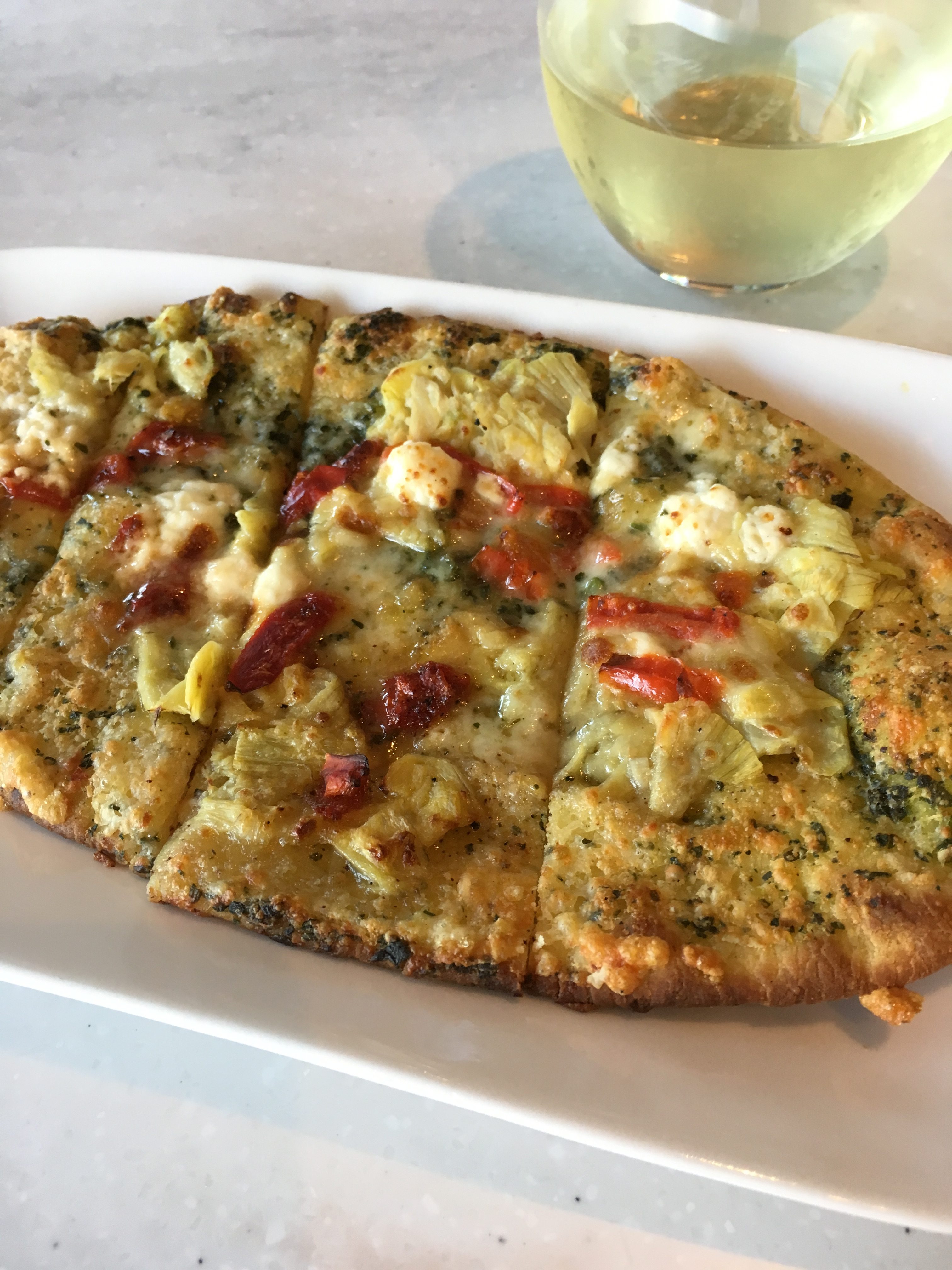 Starbucks Artichoke Goat Cheese Flatbread